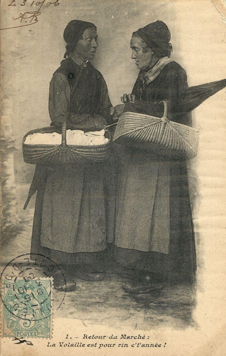 Retour du Marché (1906)   Carte postale, Cartes postales anciennes, Le collectionneur