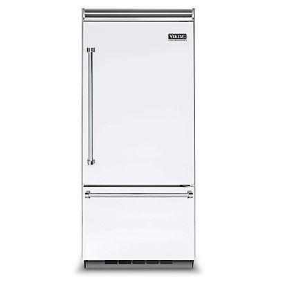 Viking Professional 5 Series 36 Inch 20 4 Cu Ft Built In Left Hinge Bottom Freezer Refrigerator White Vcbb5363elwh Bottom Freezer Refrigerator Bin Store Aluminium Doors