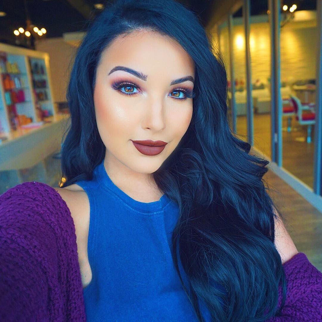 blue black hair makeup tutorials pinterest black