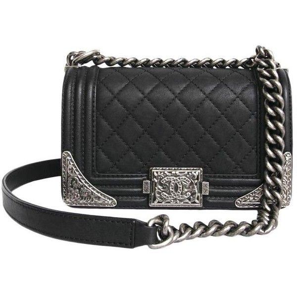 Preowned Chanel Black Leather Boy Paris Dallas Limited Collection 27 950 Sar Liked On Polyvore Featuring Handbag Straps Chanel Handbags Chanel Handbag Boy