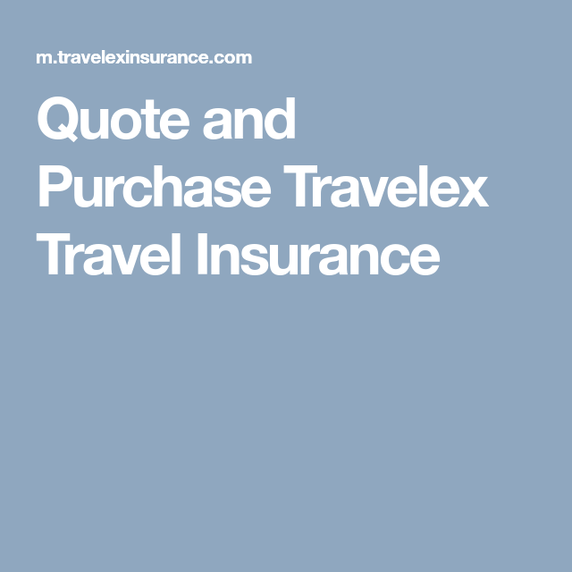 Quote And Purchase Travelex Travel Insurance  Cruise Ins