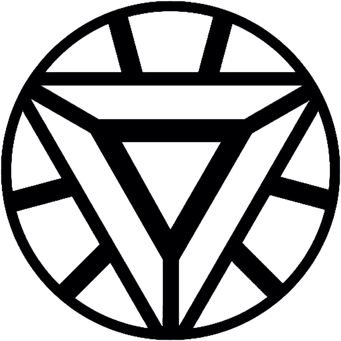 Arc reactor template | Inspiring Ideas | Iron man symbol, Iron man
