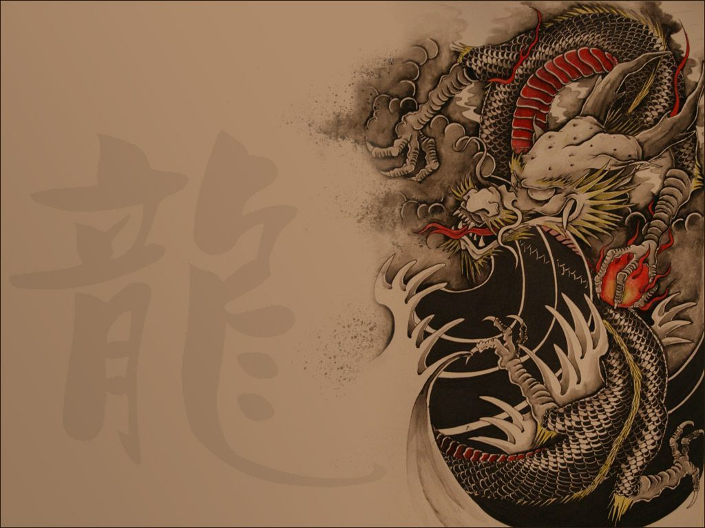 red chinese dragon wallpaper | info | adorable wallpapers