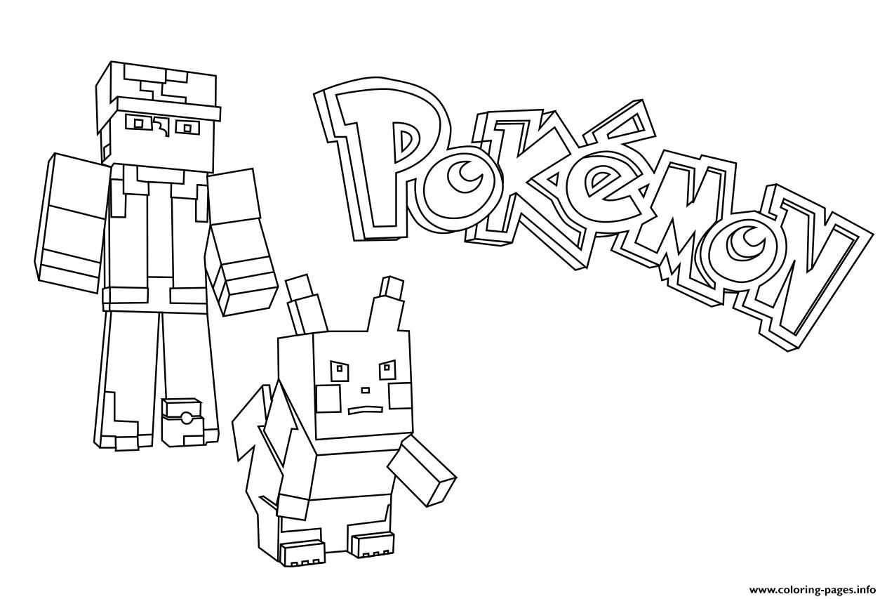 Print Minecraft Pokemon Coloring Pages Minecraft Coloring Pages