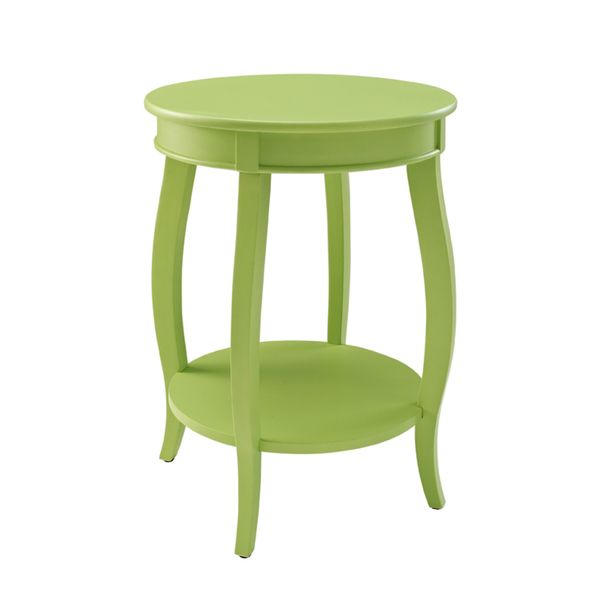Delicieux Oh! Home Seaside Lime Round Table With Shelf