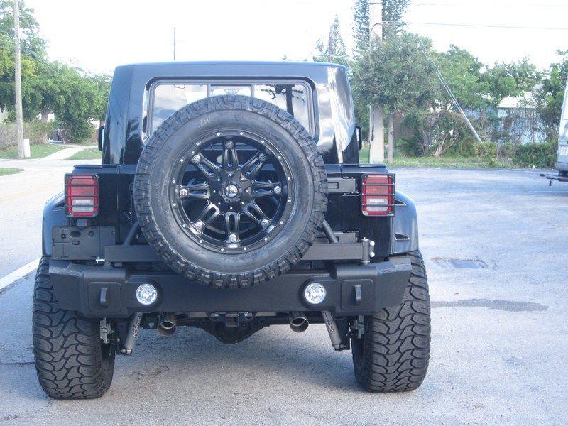 rampage marathon rescue rear bumper   tire swing  jeep wrangler jk unlimited