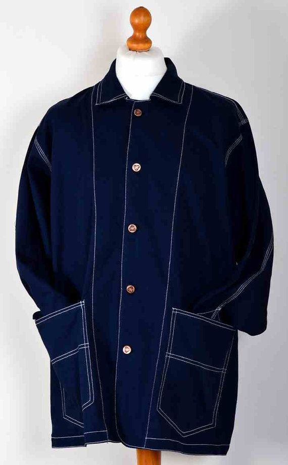 One-off Worker style canvas twill coat/jacket by OldthingsOldtrunk