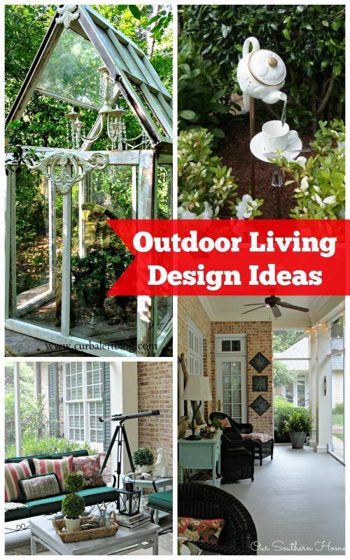 Outdoor Living Design Ideas Garden Pinterest Outdoor living