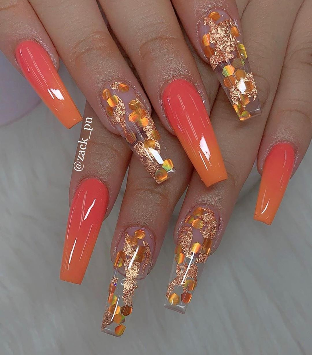 60 The Most Wonderful And Convenient Coffin Nail Designs 2019 Fall Acrylic Nails Best Acrylic Nails Pretty Acrylic Nails