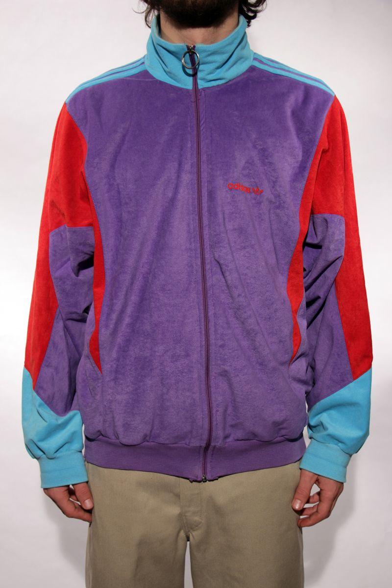 Adidas Veste Vintage Peau de Pêche Colorblock ? 45