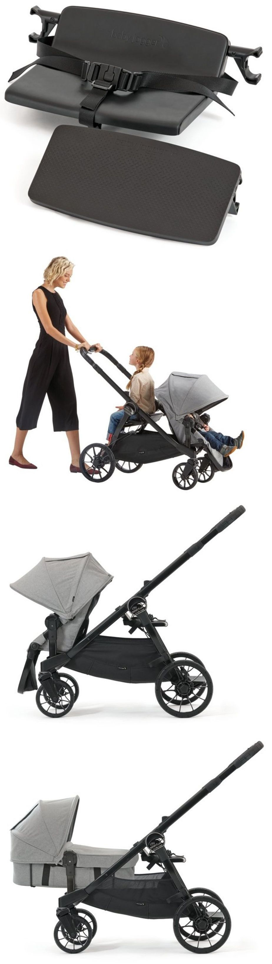 Bench Seat Attachment For Baby Jogger City Select Lux Stroller New