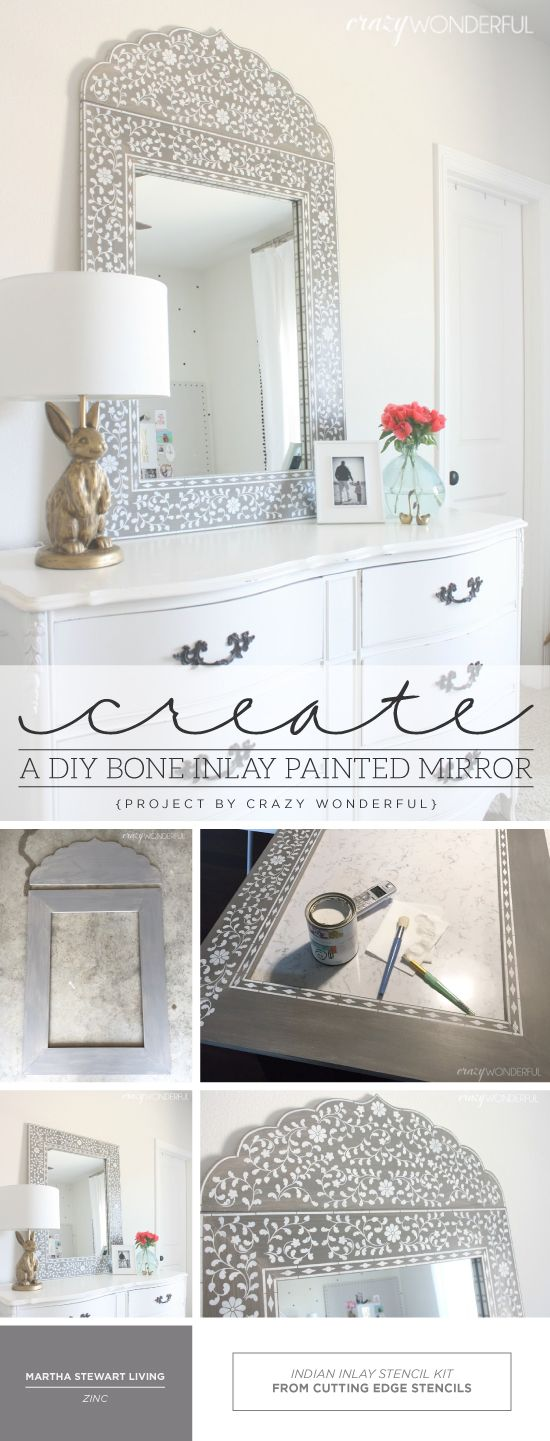 Cutting Edge Stencils shares how to create a DIY bone inlay mirror using the…