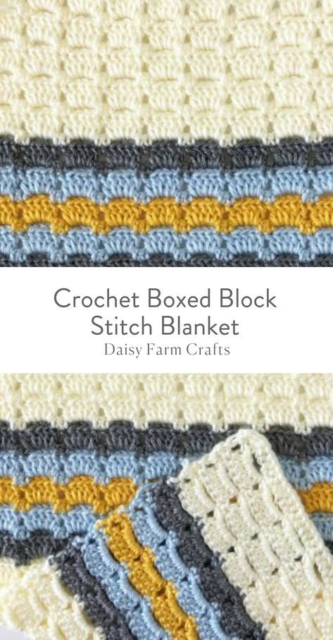 Free Pattern - Crochet Boxed Block Stitch Blanket | Mantas ...