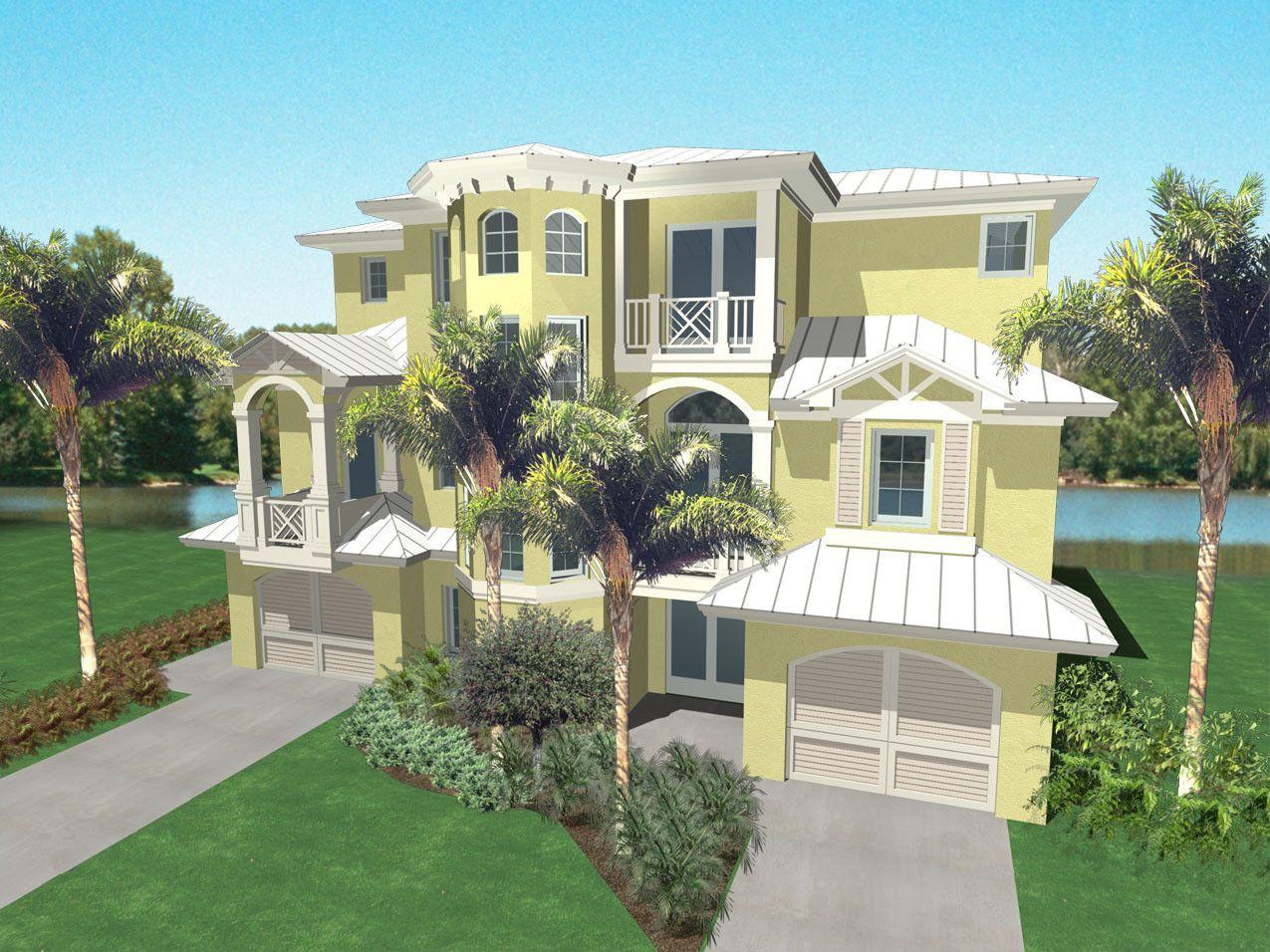Seaside Place Home Plan Caribbean Coastal