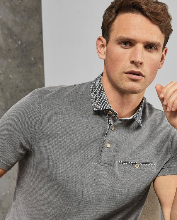 b8cf520367c9 Ted Baker DOLLER Geo collar polo shirt in 2019
