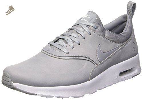 info for 0b3d0 a0f70 Nike Women s Air Max Thea Premium Stealth Pure Platinum White 616723-009  (SIZE  9.5) - Nike sneakers for women ( Amazon Partner-Link)