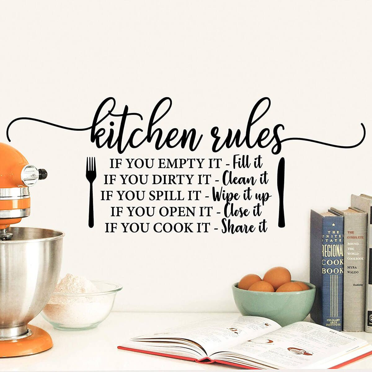 24 welcoming kitchen and dining room sign ideas that personalize your home in 2020 kitchen on kitchen decor quotes wall decals id=76733