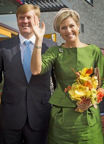 Dutch King Willem Alexander and Queen Maxima attends the 10th anniversary of the Protestant Church in The Netherlands, the celebration was in the church Fontein in Nijkerk.