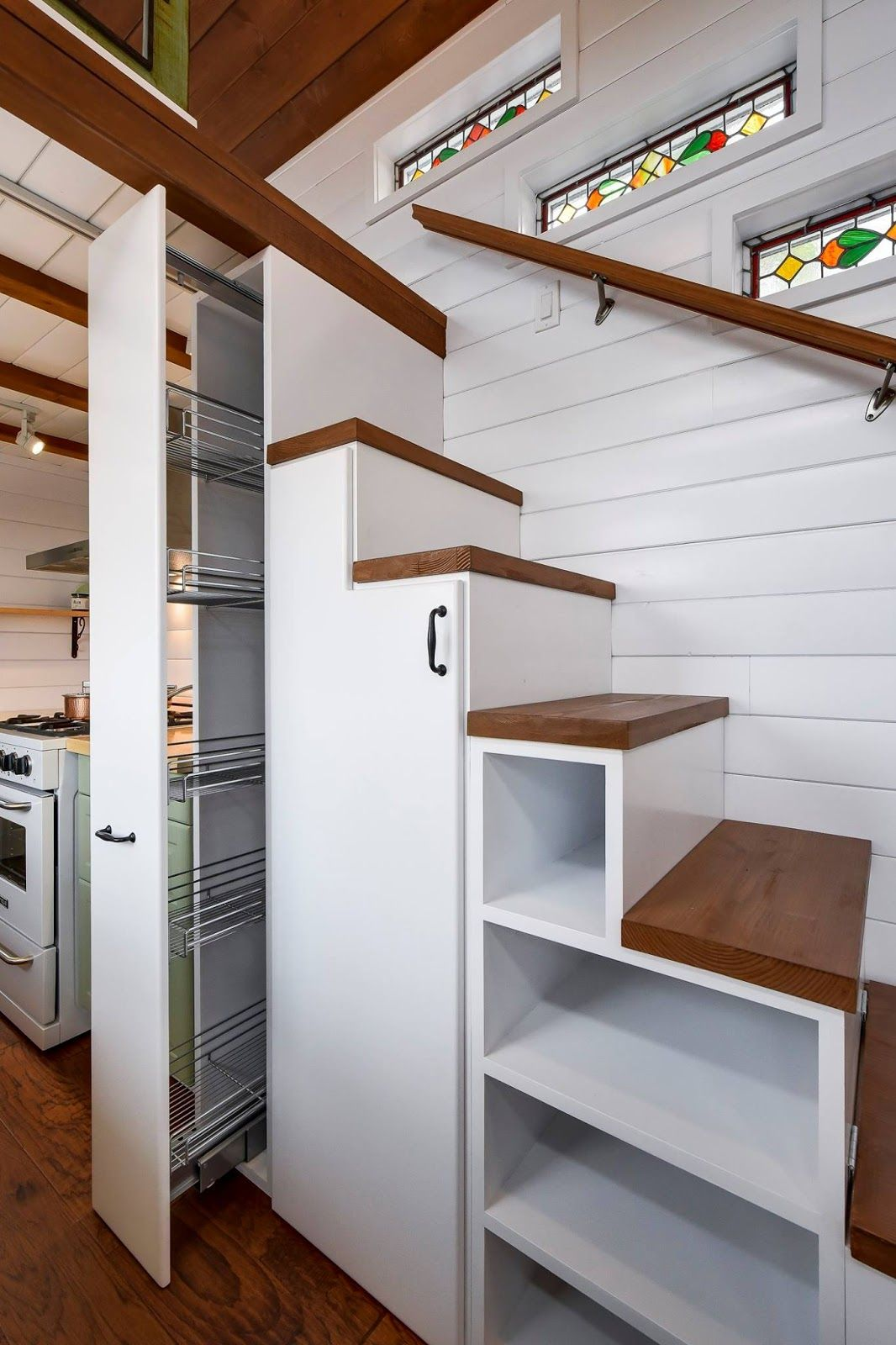 Beautiful 30\' Mint Tiny Home on Wheels with Vaulted Ceilings ...