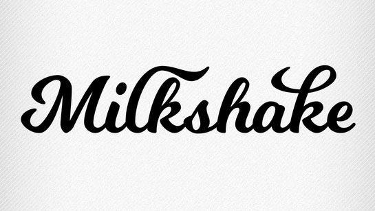 Free script font milkshake pinteres Best calligraphy fonts free