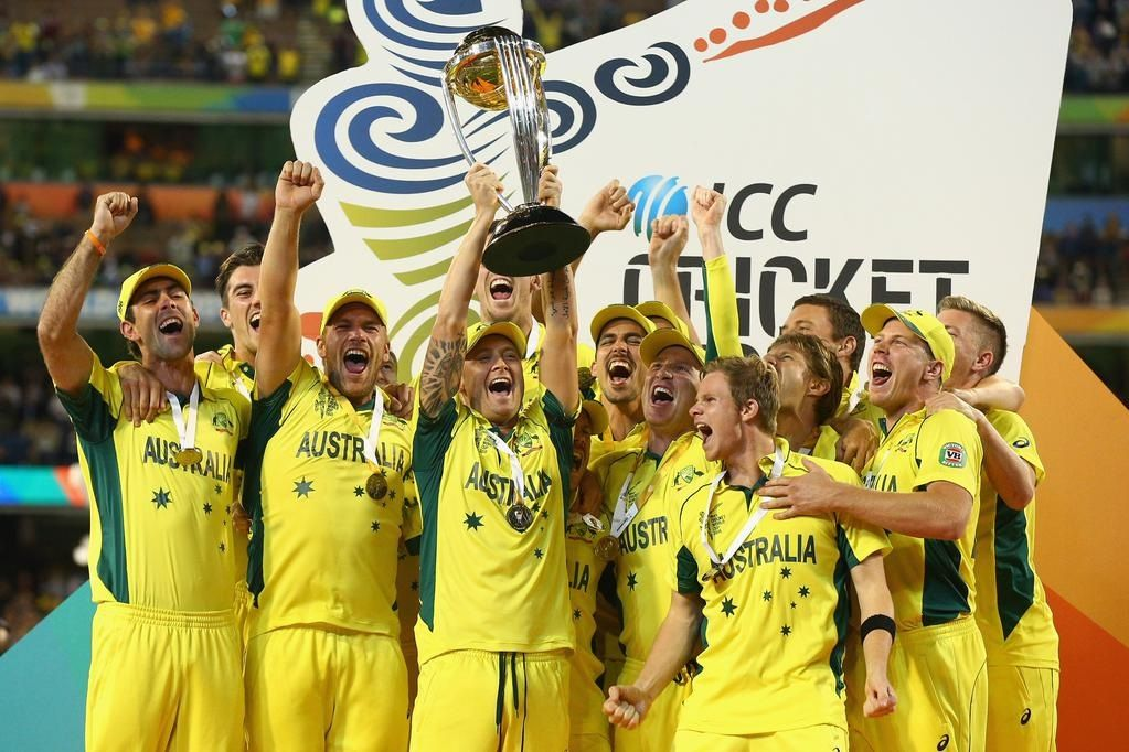 132 Is The Number Of Runs Pakistan Was Shot Out O Hand Over The World Cup Trophy To A Stro Cricket World Cup Cricket World Cup Winners Melbourne Cricket Ground
