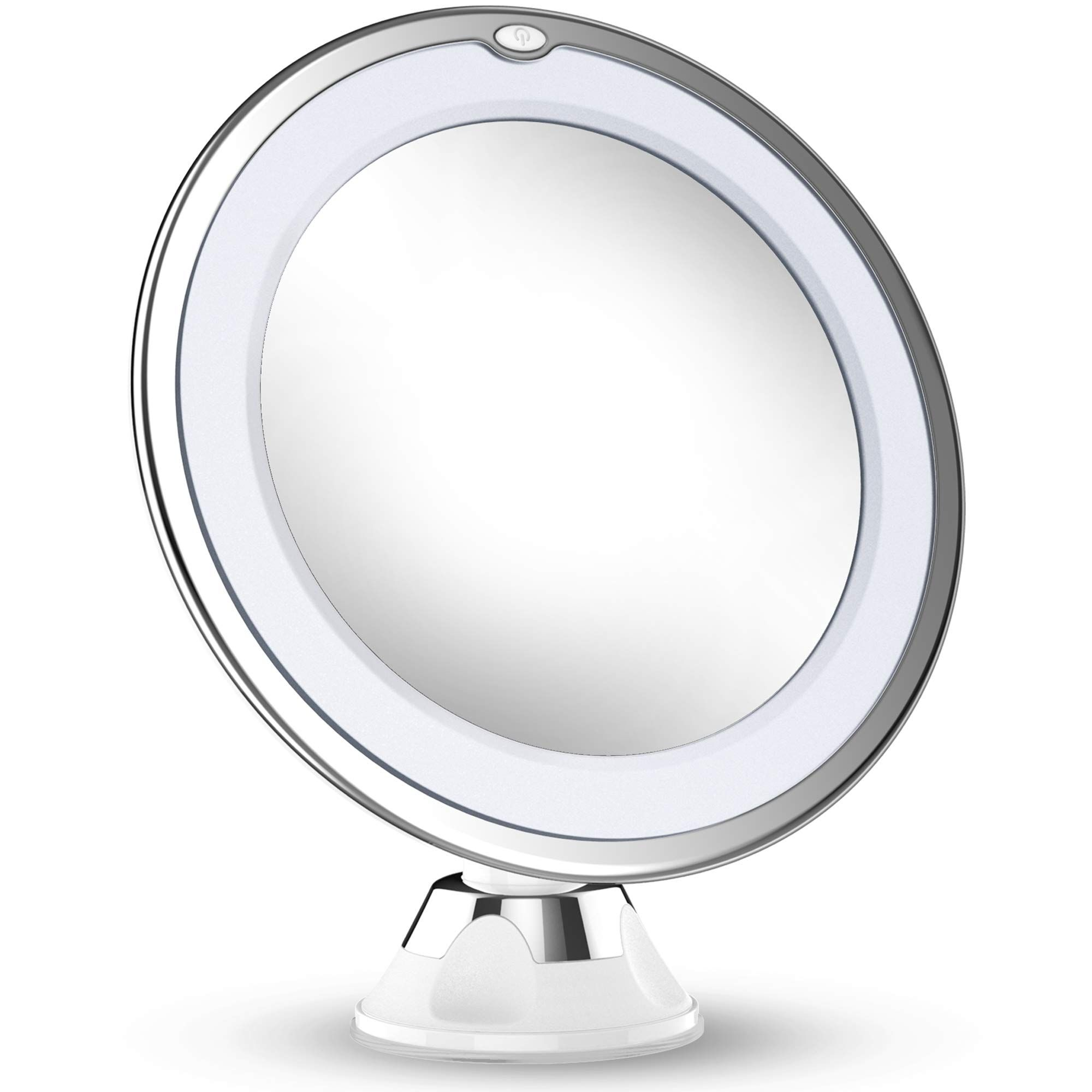 Updated 2020 Version 10x Magnifying Makeup Mirror With Lights Led Lighted Portable Ha In 2020 Makeup Vanity Mirror With Lights Makeup Mirror With Lights Makeup Mirror