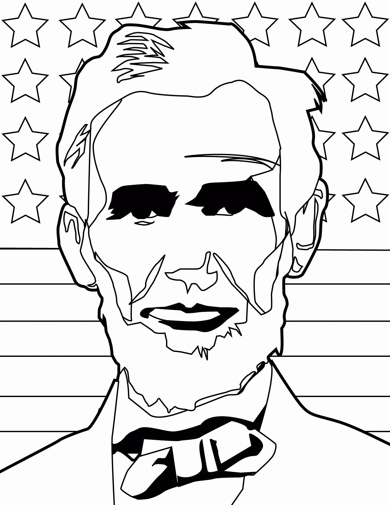 Abraham Lincoln Coloring Page Fresh Abraham Lincoln