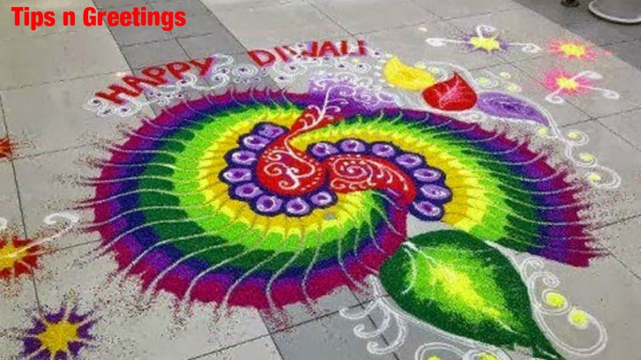 Beautiful Easy Rangoli Design 2016 | Diwali Special ...
