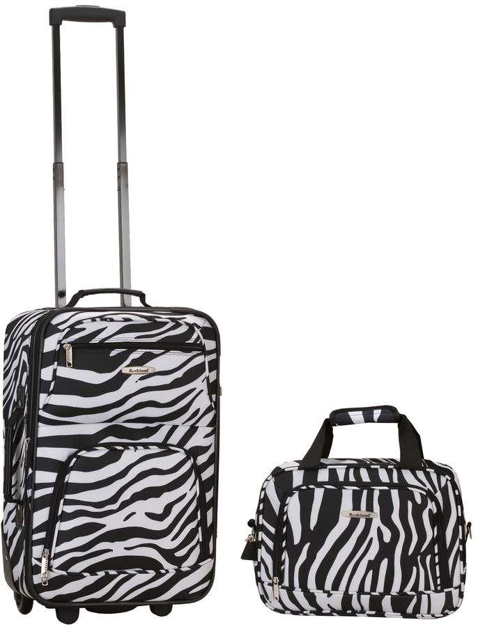 6babd2fb5 Rockland Print 2-Piece Luggage Set | Products | Rockland luggage ...