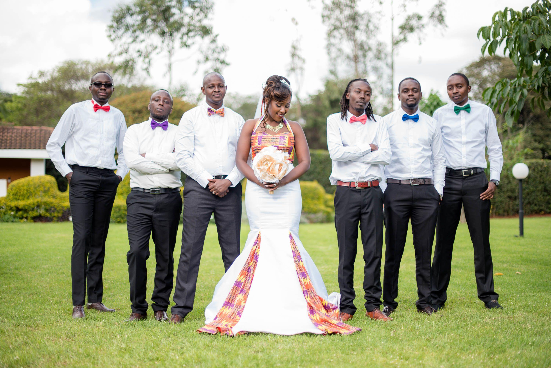 Groom, Bride And Their Team #kenyanwedding