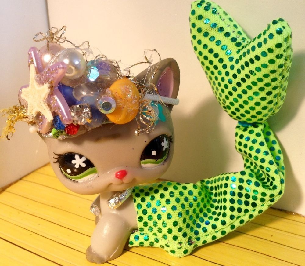 Littlest Pet Shop LPS Clothes Accessories mermaid Outfit Lot *CAT NOT INCLUDED* #Handmade