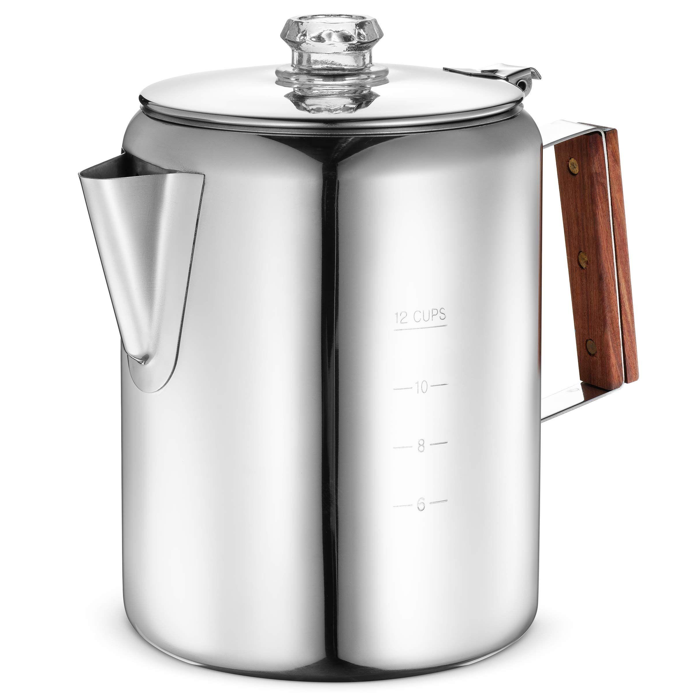 Eurolux Percolator Coffee Maker Pot 12 Cups Durable