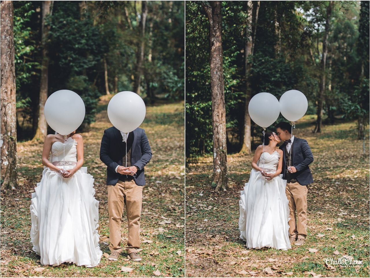 Balloons themed Pre Wedding Session at FRIM Tropical