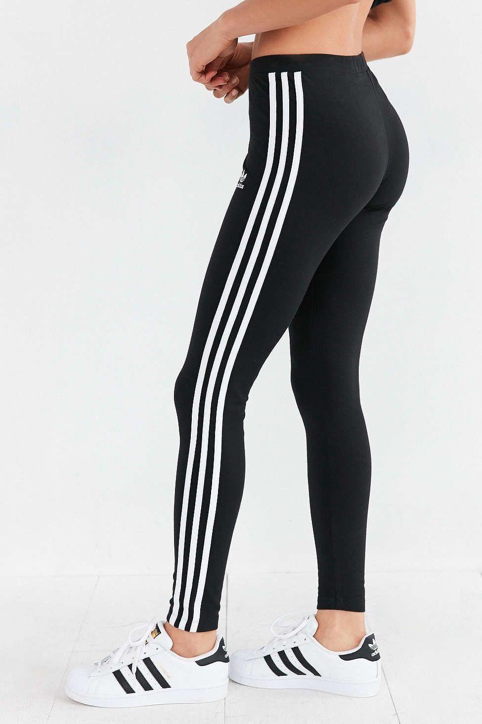 adidas leggings with stripes