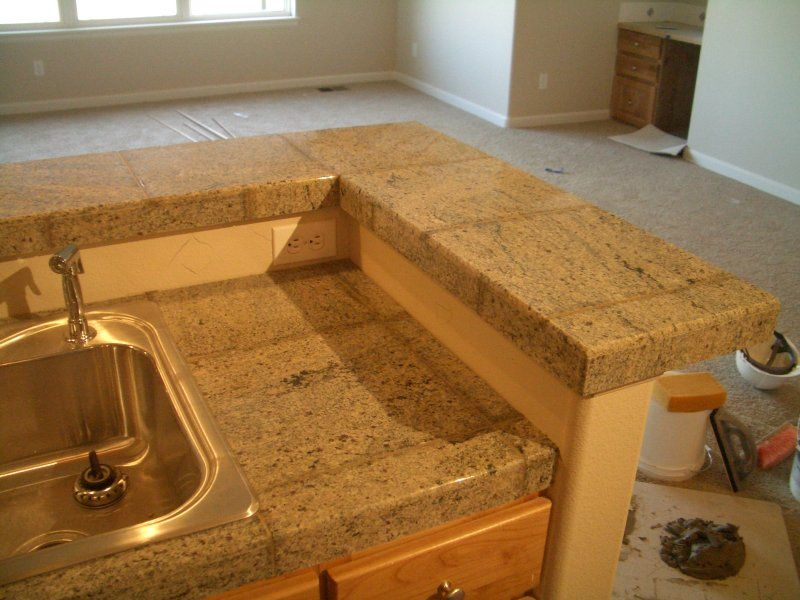 Granite Tile Kitchen Countertop And Bar Granite Tile Countertops
