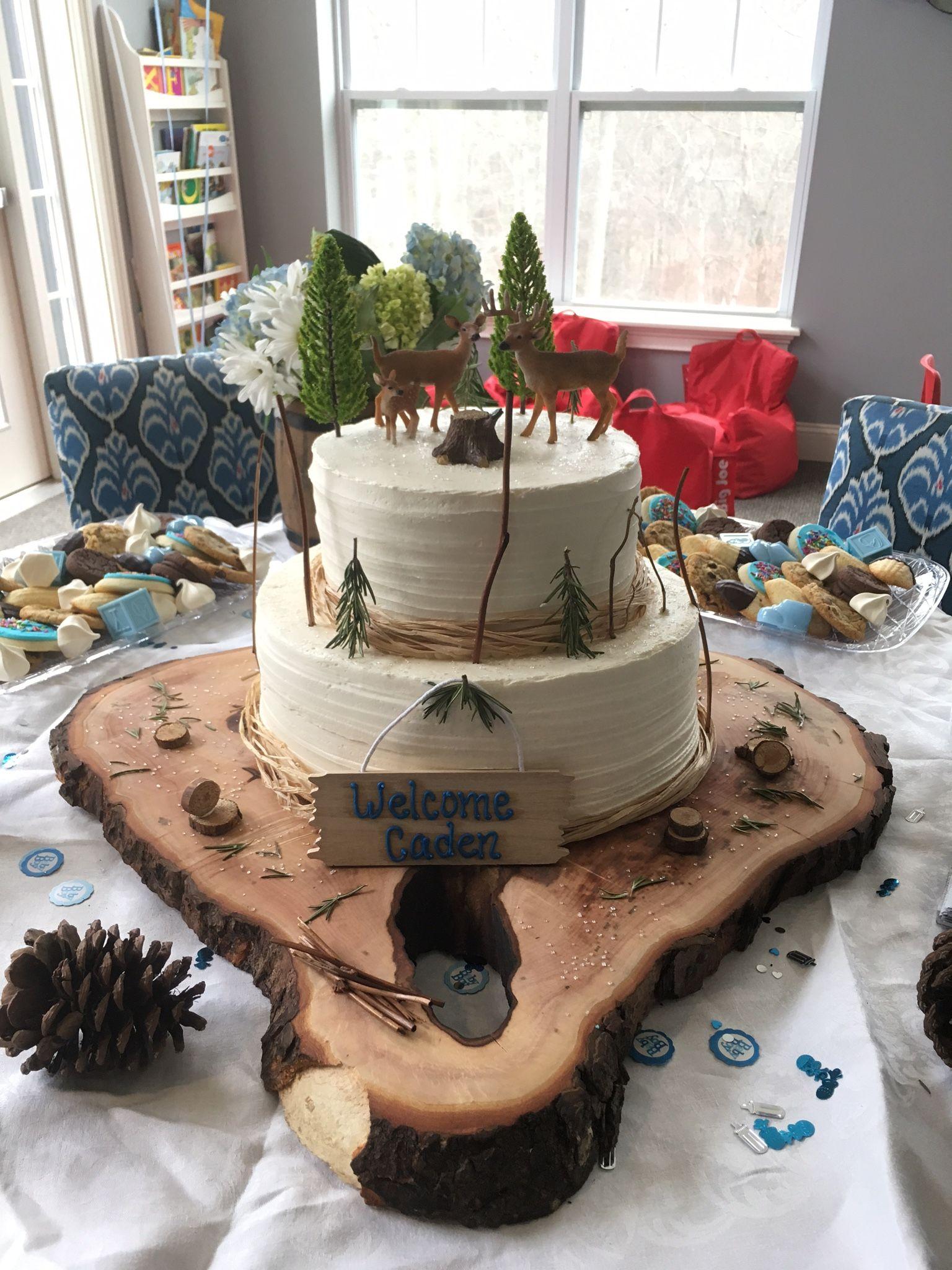 Hunting Baby Shower Cake : hunting, shower, Shower, Cake,, Cupcakes, Woodland, Theme
