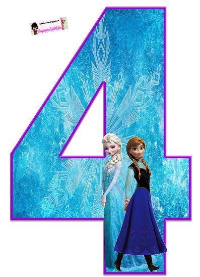 Bonitos Números De Frozen Con La Imagen De Elsa Y Anna Ideales Para