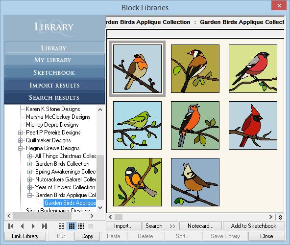 Pássaros do jardim (Applique)