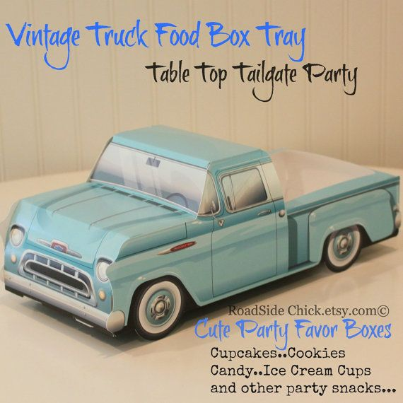 Cute Kids Food Boxes1957 Chevy Truck Party And Favor Boxes Boys Birthday