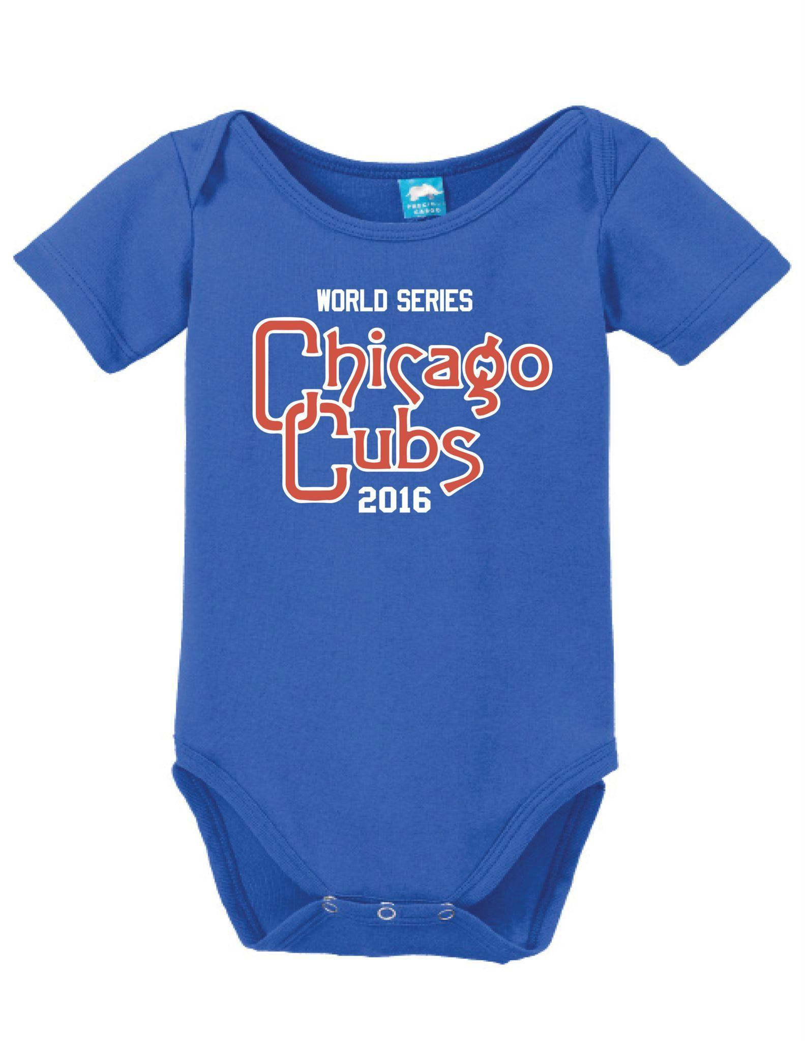 Vintage World Series Chicago Cubs 2016 Onesie