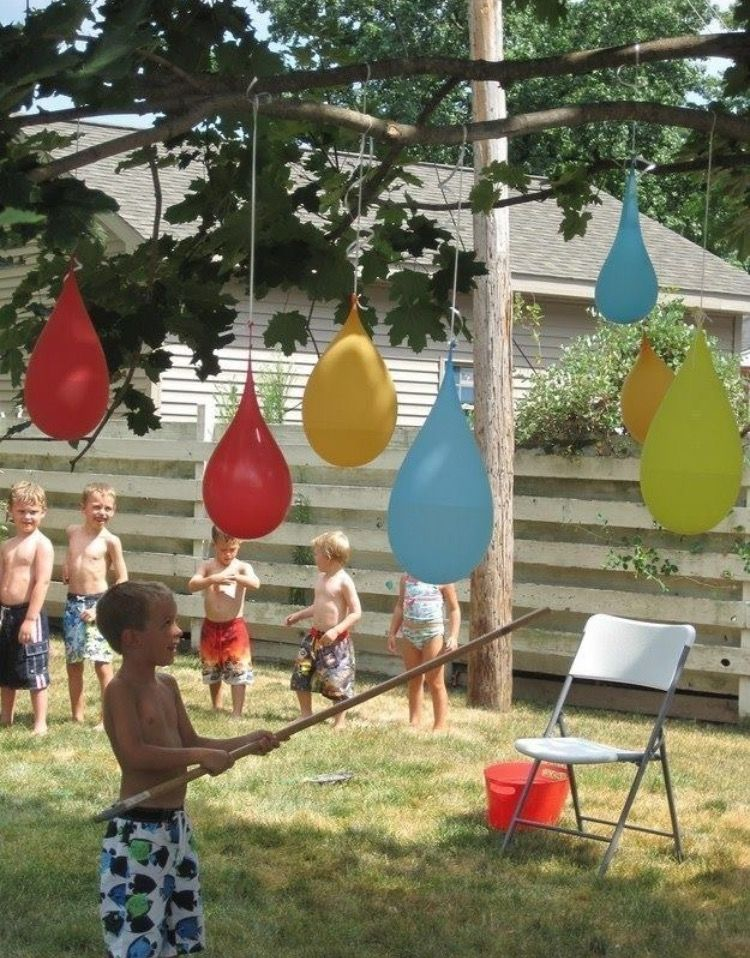 FUN Backyard Water Party With Water Balloon Pinatas