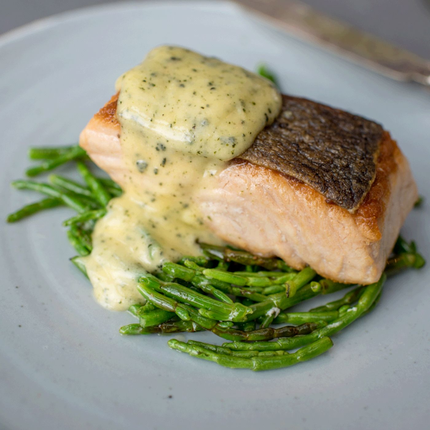 Tom Kitchin's Sea Trout with Seaweed and a Seaweed