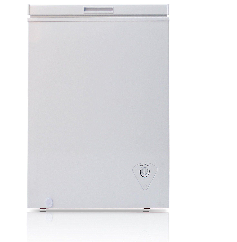 Midea Hs 129c Single Door Chest Freezer 3 5 Cubic Feet White