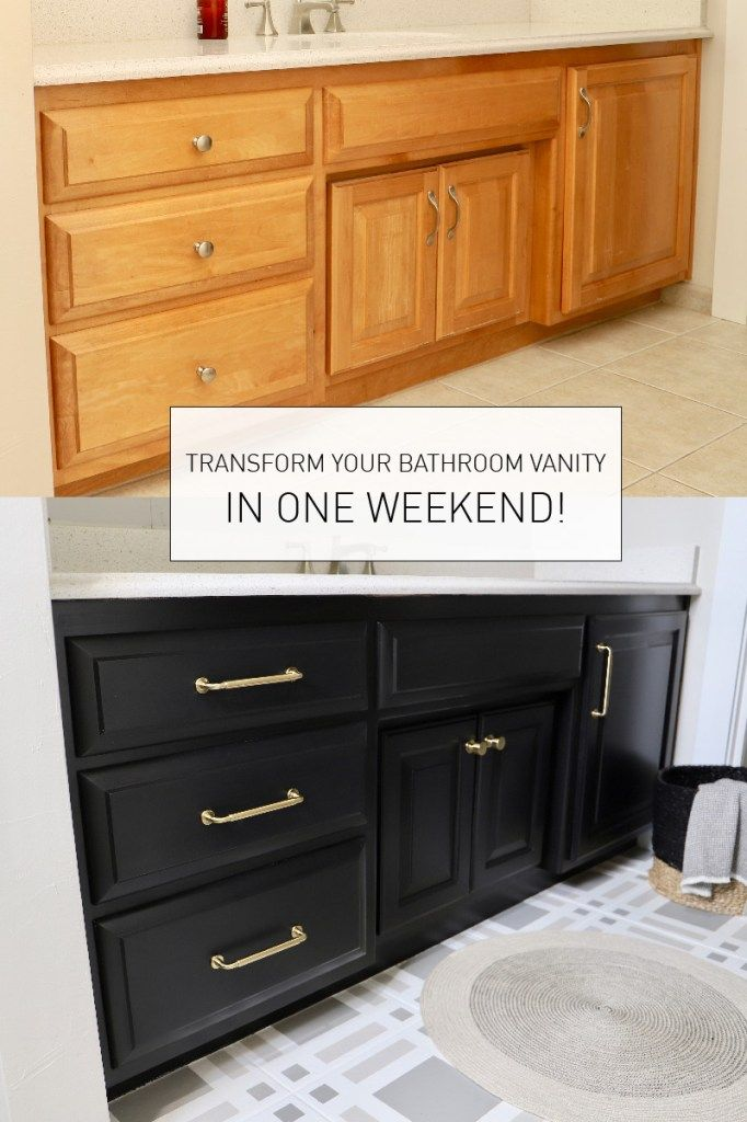 Photo of TRANSFORM YOUR BATHROOM VANITY IN A WEEKEND!