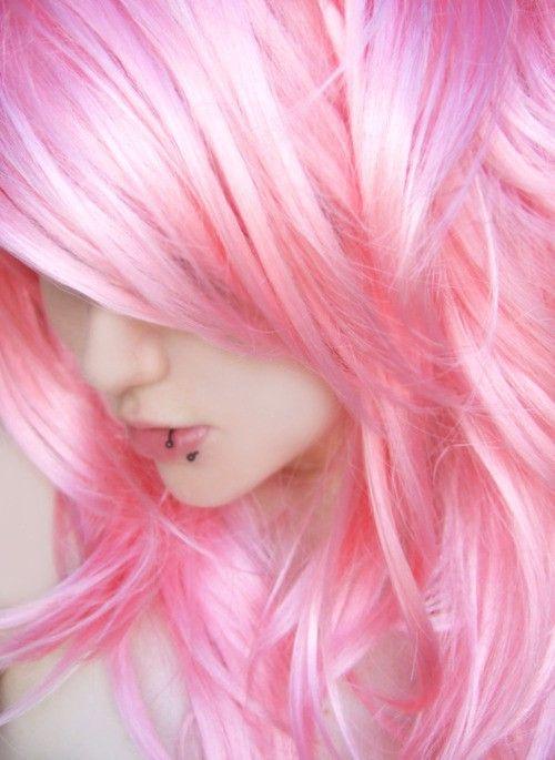pink hair hair pinterest gef rbte haare haar und vorstellung. Black Bedroom Furniture Sets. Home Design Ideas