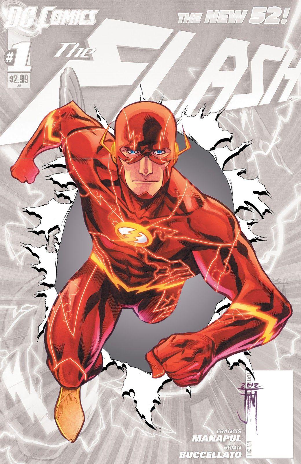 The New 52 The Flash Desenhos De Super Herois Novos 52 E