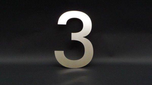 Hausnummer 3 aus Edelstahl | Pinterest | Hausnummern, Edelstahl und LED