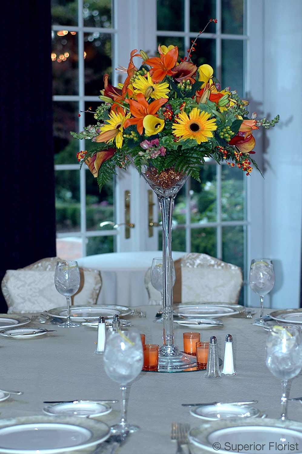 Superior florist centerpieces autumn flowers including