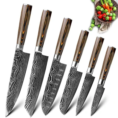 Stainless Steel Kitchen Knives Set Chef Japanese Style In 2020 Kitchen Knives Knife Set Kitchen Knife Sets