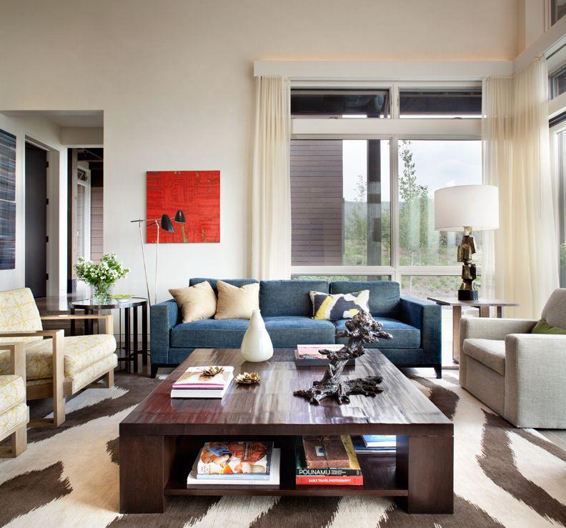 Caroline Edwards Interior Design Aspen Living Room www